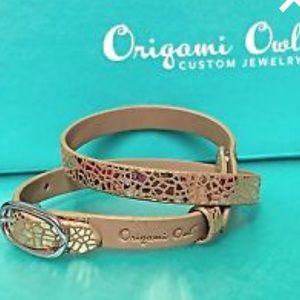 ORIGAMI OWL 💛 Snakeskin Leather Wrap Bracelet
